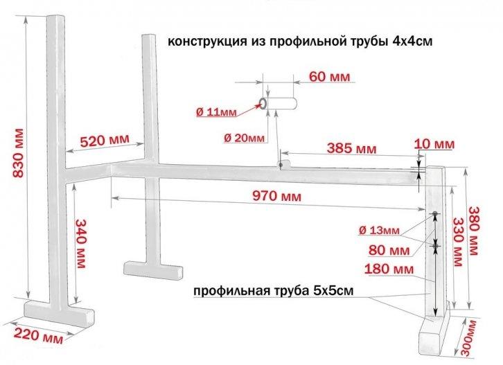 Как сделать наклонную скамью